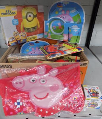 Box of new items incl. Peppa Pig and Minions