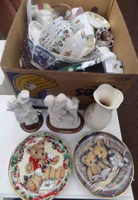 Box of ceramics limited edition plates