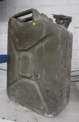 Military green jerry can