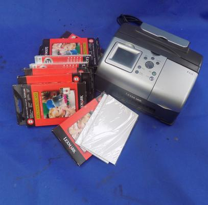 Lexmark photo printer with paper