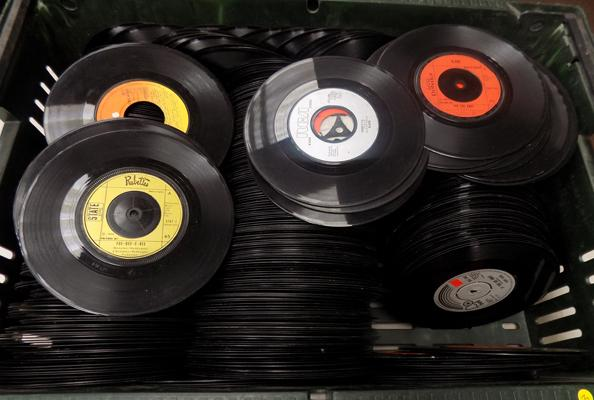 Large box of records, ex. Juke Box