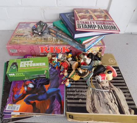Mixed box of toys books and games