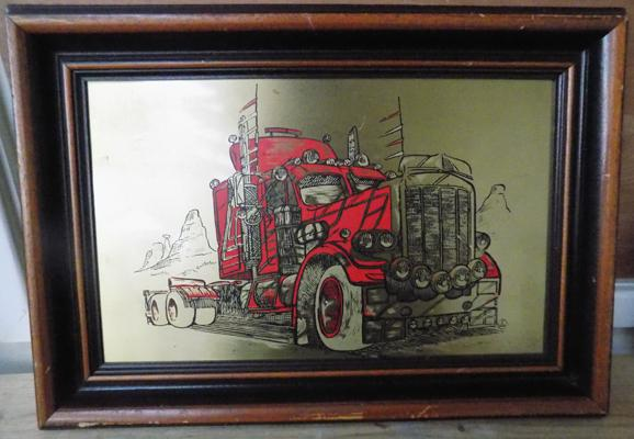 "Big red truck picture - 20-"" x 14"""