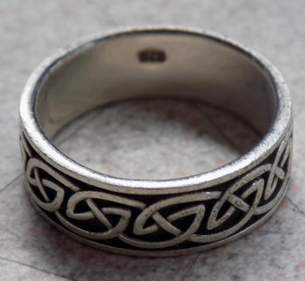 925 silver ring in tribal style approx. size U