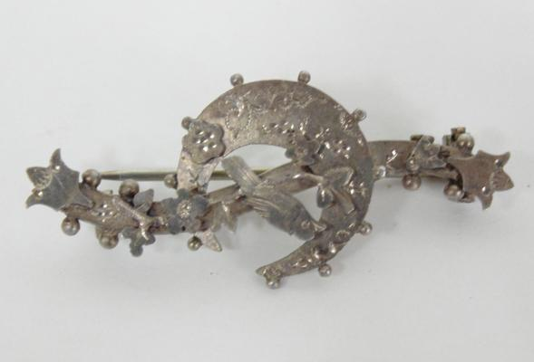 Antique silver brooch - 1895 Birmingham