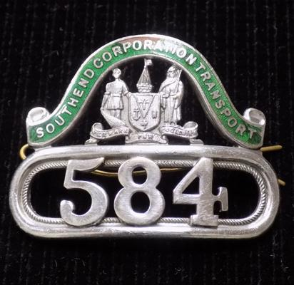 Bus driver's cap badge