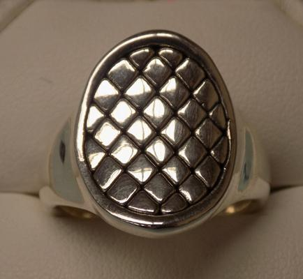 925 men's ring, size W