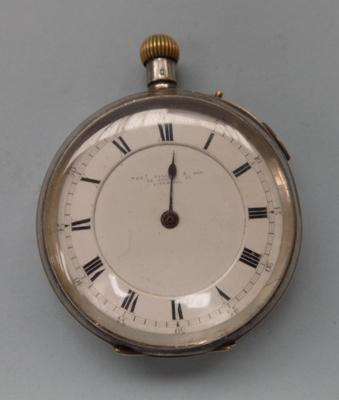 Silver Thomas Russel pocket watch - one hand missing