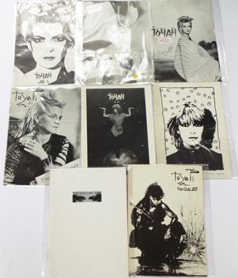 Eight Toyah Willcox fan booklets/collections