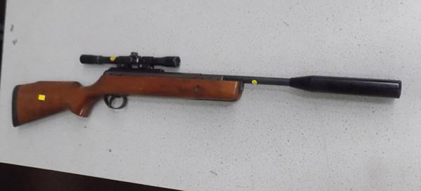 BSA .22 caliber rifle with scope - mechanism needs attention