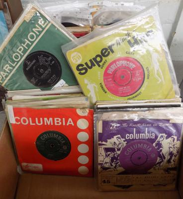 Large box of collectable 1960's singles incl. Beatles, Stones, Small Faces etc.