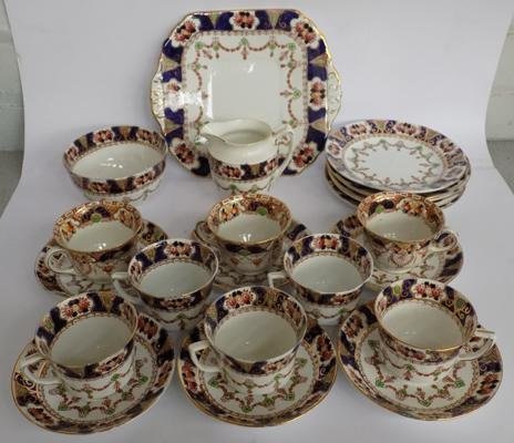 Antique Masons china tea-set - 27 pieces