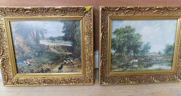 Pair of miniature Constable prints