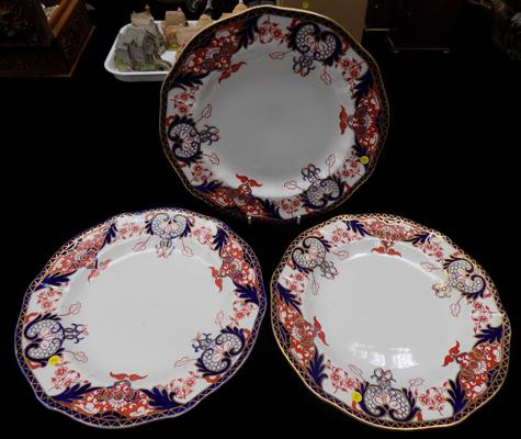 Three Royal Crown Derby plates