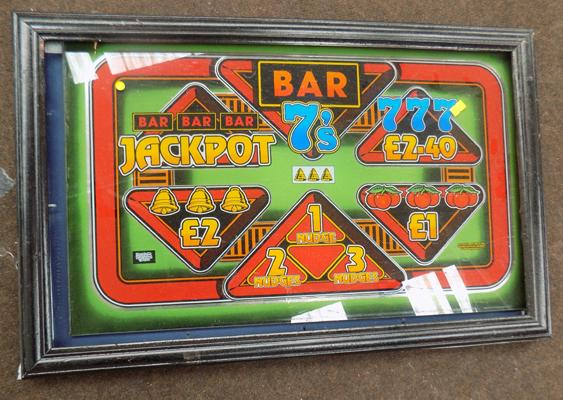 'Bar 7' framed advertising plaque/sign