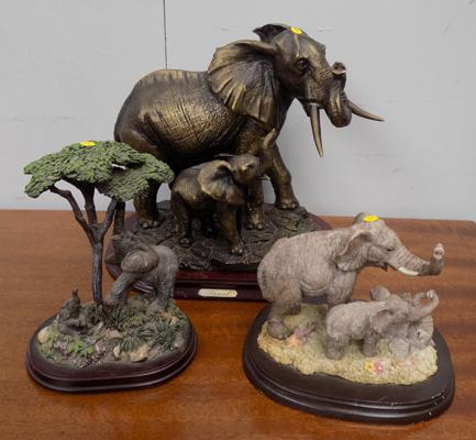 Selection of elephant figures inc 1 Pascal