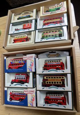 Twelve Days Gone By boxed die-cast buses