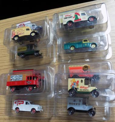 Twelve die-cast vehicles