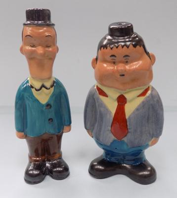 Vintage Laurel and Hardy salt and pepper