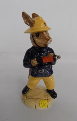 "Royal Doulton Fireman Bunnykins 4 1/2"" height"