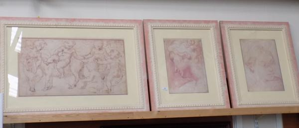 Three modern framed prints, Russell Flint style