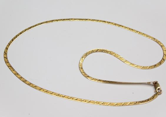 "14 KT gold necklace - approx. 18"" - weighs approx. 4.8 grams"