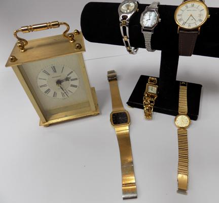 Collection of watches and a carriage clock