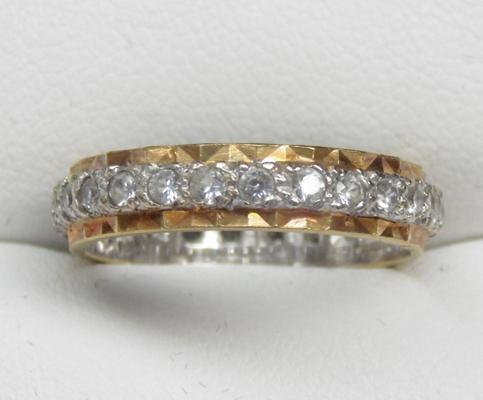 9ct gold full eternity ring size M1/2