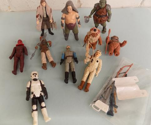80's Star Wars figures and accessories