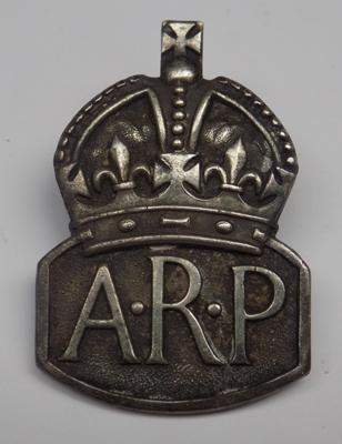 Silver ARP badge - London 1938