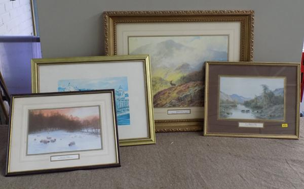 Collection of four prints - framed