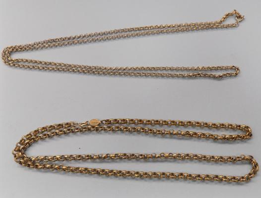 "2x yellow metal belcher chains - 30"" x 36"""