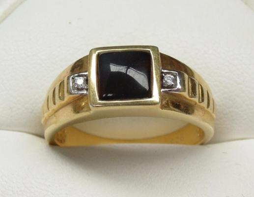 Gold on 925 silver ring - size approx. V