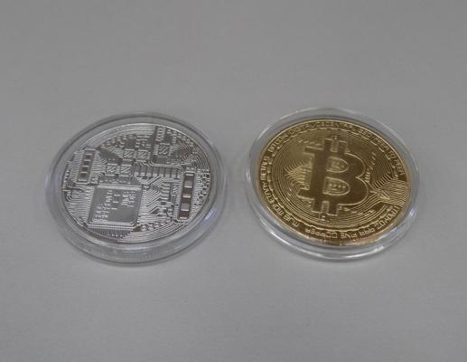 Two Bitcoin proof coins