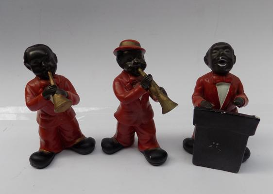 Three musical instrument bandsmen