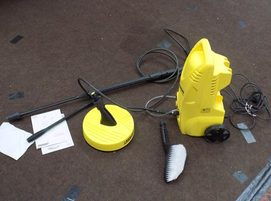 Karcher jet washer with accessories