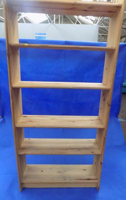 Tall pine bookshelf approx 6ft tall