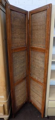 Wicker privacy screen