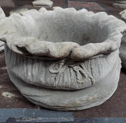 Large sack shaped planter