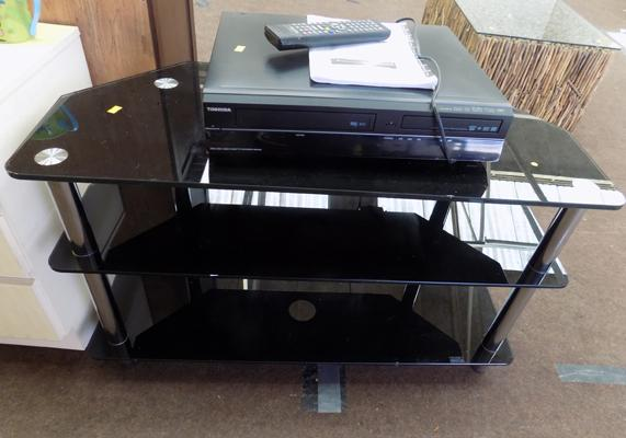 TV stand & Toshiba recorder with remote, remote in office