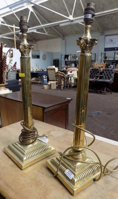 Two column lamp bases