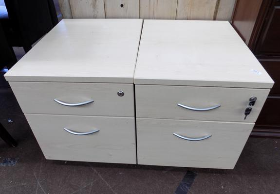 Two drawer filing cabinet x 2 sets