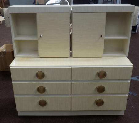 Retro bedroom drawers and two wall units
