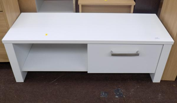 Bailey white 1 drawer entertainment unit