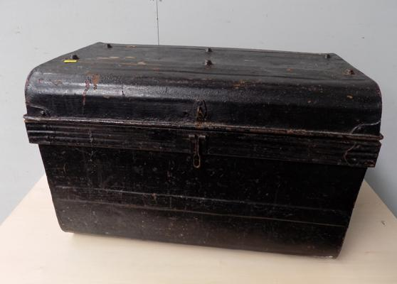 Large vintage metal trunk