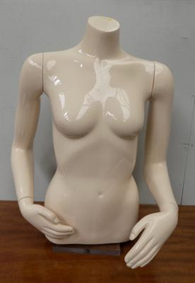 Table top vintage shop mannequin with movable arms & hands