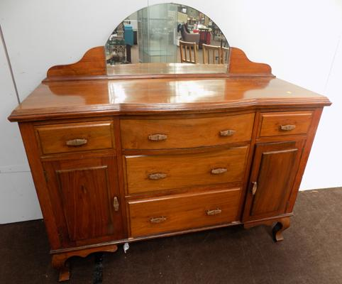 Mirror back sideboard - mirror requires fixing