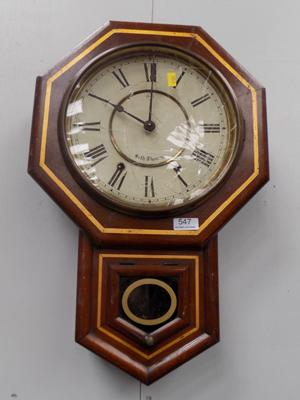 Wall clock - damaged glass