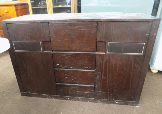 Leather effect sideboard
