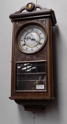 Vintage 'The time Mfg Co' wall clock 31 day w/o